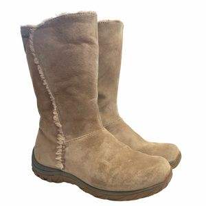 Patagnoia Lugano Tan Suede Waterproof Winter Boots